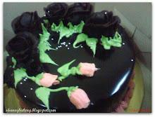 Chocolate moist cake ganache
