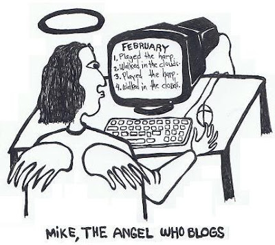 angel, mike, heaven, blogger