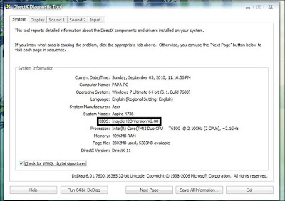 Proses Update BIOS Pada Laptop