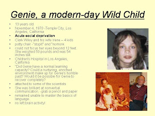 genie case study wild child A brief clip about the case of genie, a severely abused child who may be able to tell us a lot about the effects of privation.