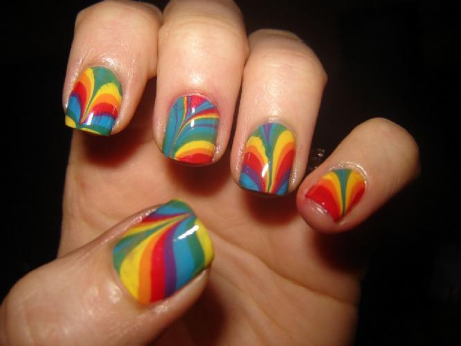 rainbow+nails trends in manicure Stylish manicure shape of nails perfect manicure manicure in different lacquers healthy nails decorated manicure colorful nails Colored nails art beautiful manicure amazing polish