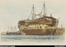Prison Ship York at Portsmouth Harbour, ca.1829,