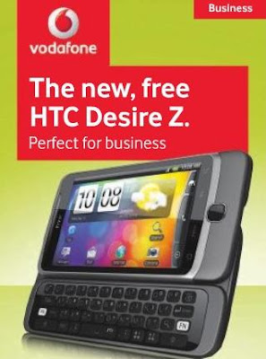 HTC Desire Z on Vodafone
