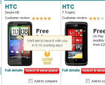 HTC Desire HD Vodafone