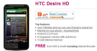 Tmobile HTC Desire HD