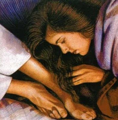 Evangelio 18 de Abril de 2011 Maria+lava+los+pies+de+jesus