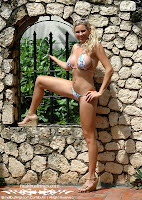 Karen in a Malibu Strings bikini in Jamaica photos gallery