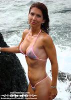 Christel in a Malibu Strings bikini in South Beach, Miami