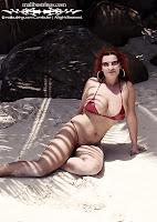 Irina in a Malibu Strings bikini in Seychelles photos gallery