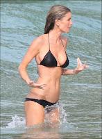 Marisa Miler In a Sexy Triangle Black selita ebanks Bikini In Saint Barthelemy in the picture