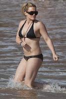 Hilary Duff in a hot black bikini Sexy Juicy Couture Swimwear pics gallery