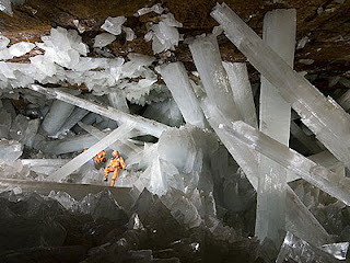 Amazing Cave of the crystal nature phenomena