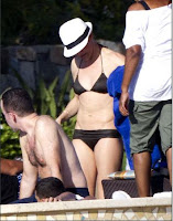 Cameron Diaz with Yankees baseball player Alex Rodriguez on vacation in Cabo San Lucas, Mexico