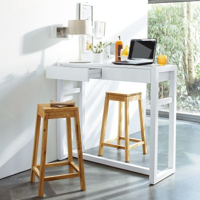 Console haute bureau for Table haute separation cuisine salon