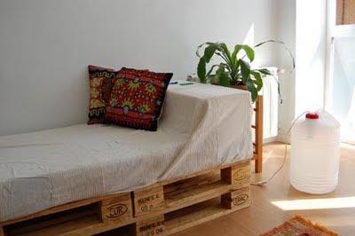 Hogar y jardin c mo hacer una cama con palets - Como hacer una cama con palets ...