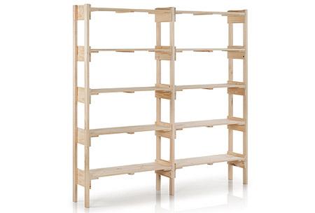 great ejemplo de mueble con estantes para colocar objetos with estanterias hechas con palets - Estanterias Caseras