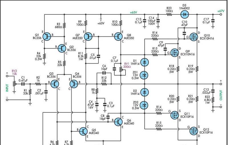 siera teknik elektronics  mosfet 200 w pa