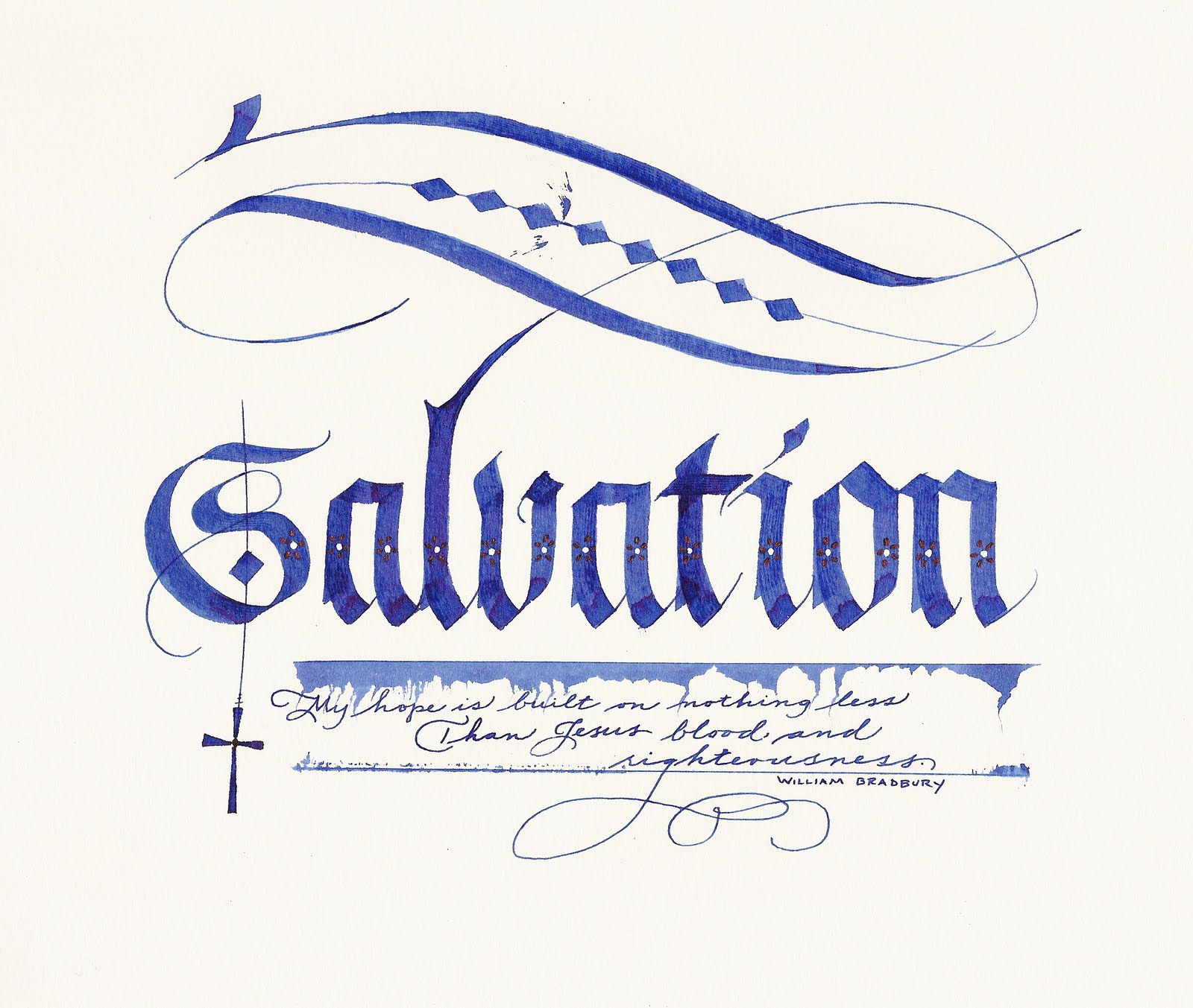 A Place To Flourish: Fraktur Calligraphy Flourish for Good Friday