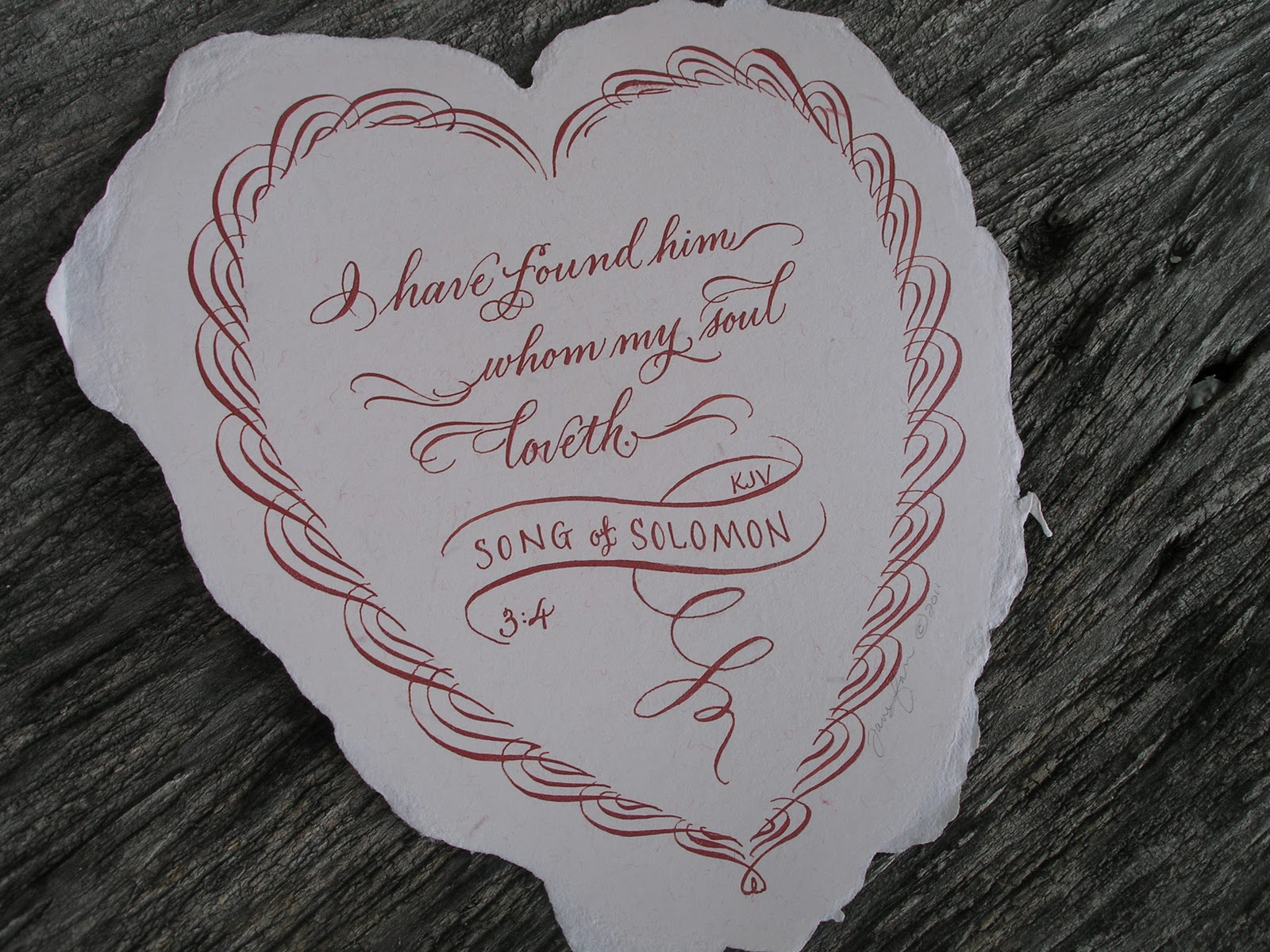 A place to flourish calligraphy valentine cards