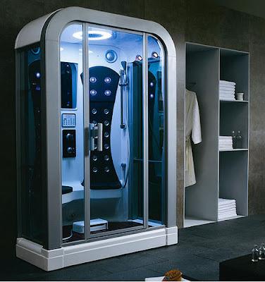 High and Shower  Modern Bathroom Design