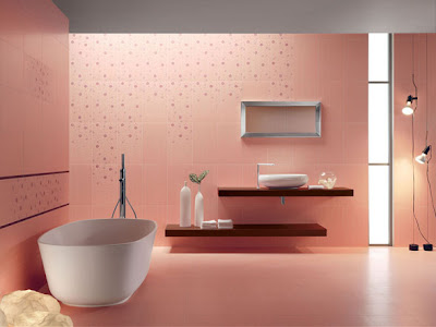 Pink Bathroom Design by Acif