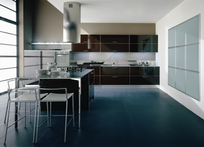 Modern Glass Kitchen