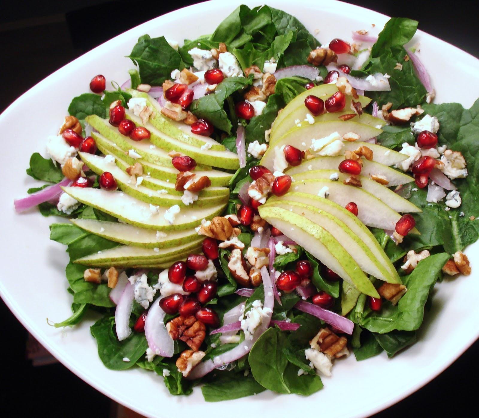 Pear  Pomegranate SaladInspired RD