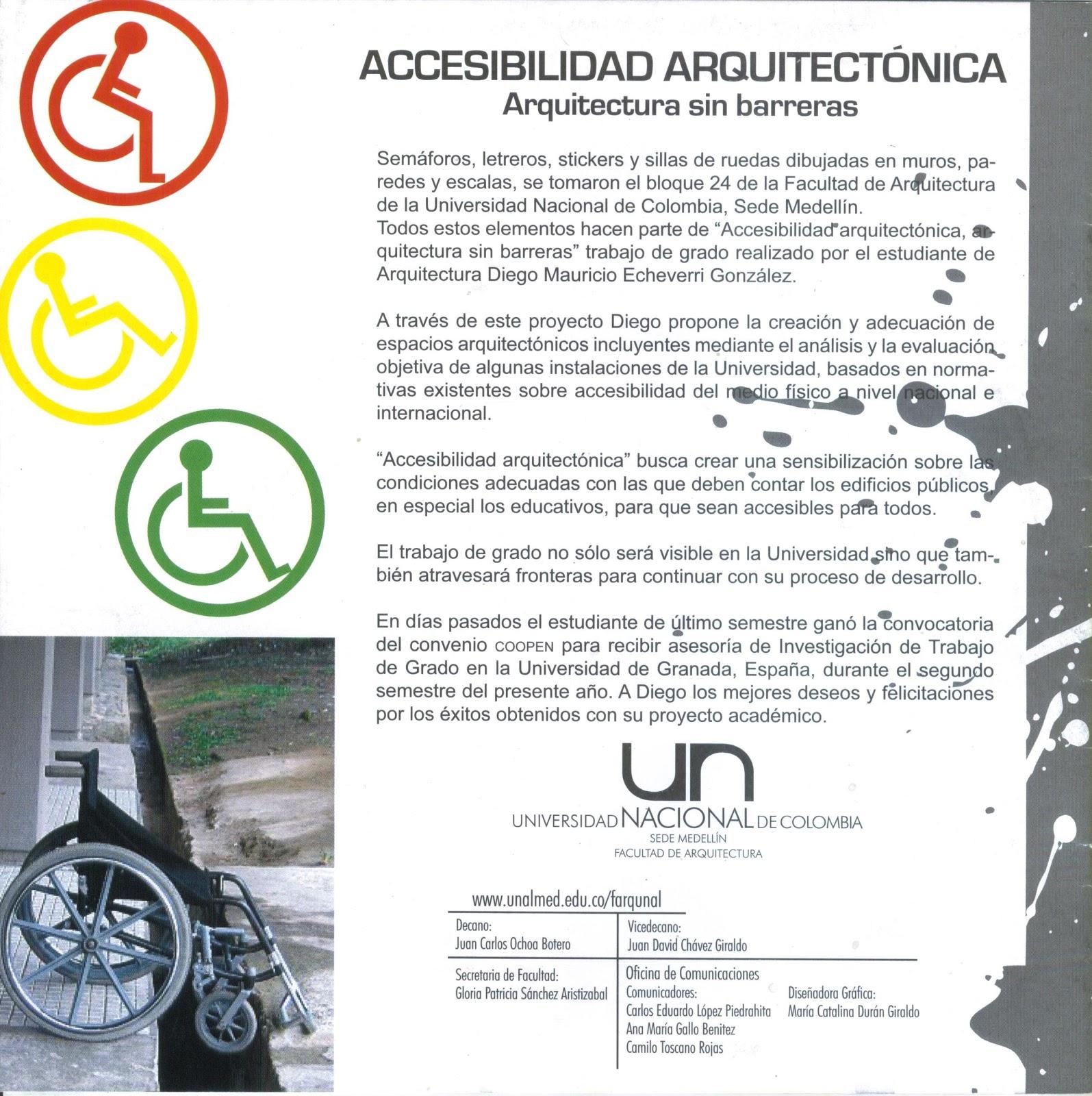 Arquitectura sin barreras for Que es accesibilidad
