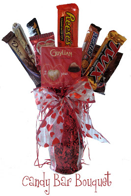 Homemaking Fun Candy Bar Bouquet and Candy Bar Cards