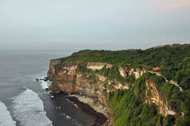 Uluwatu Temple is situated at an height of  Beaches in Bali: Uluwatu Temple Bali