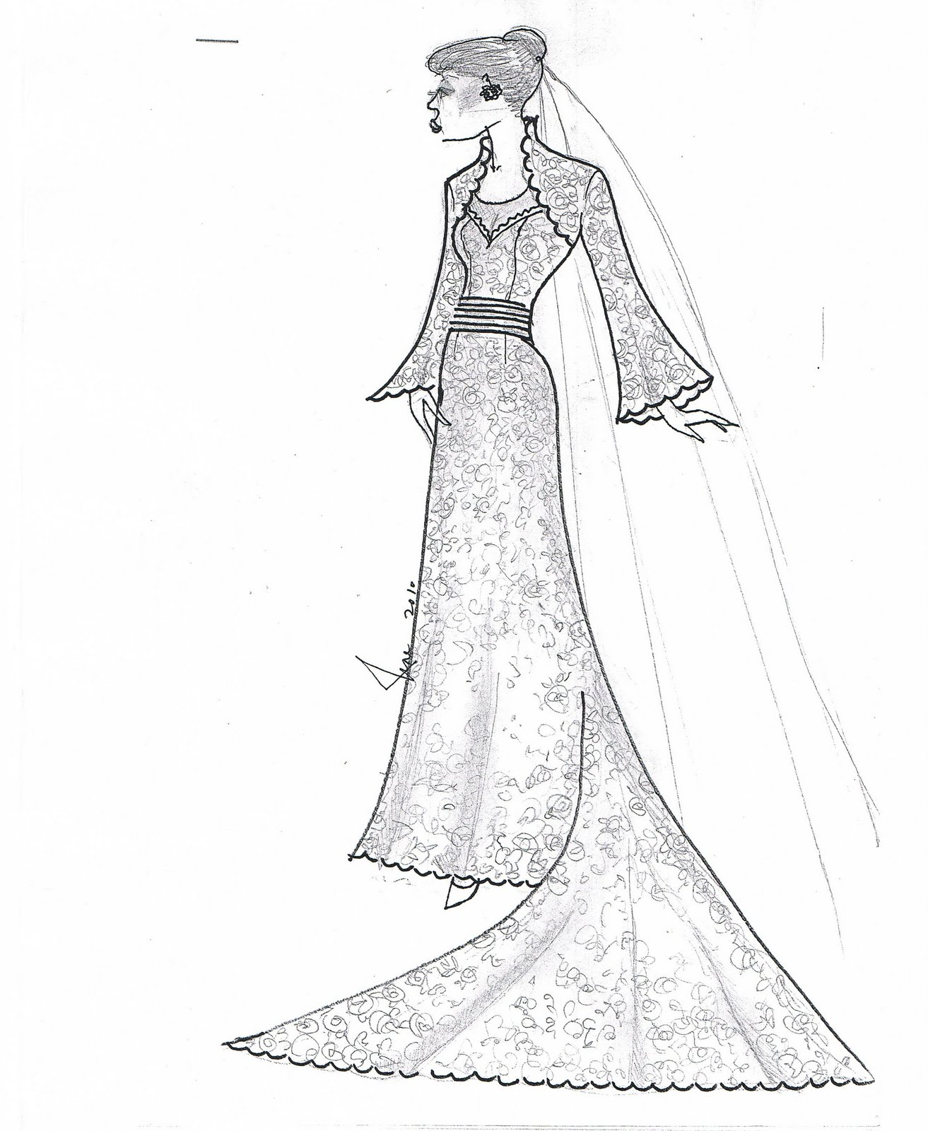 The Beginning of our Happily Ever After....: Gown Sketches by Noe Reyes