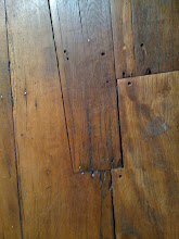 Plank floor at the Commandery