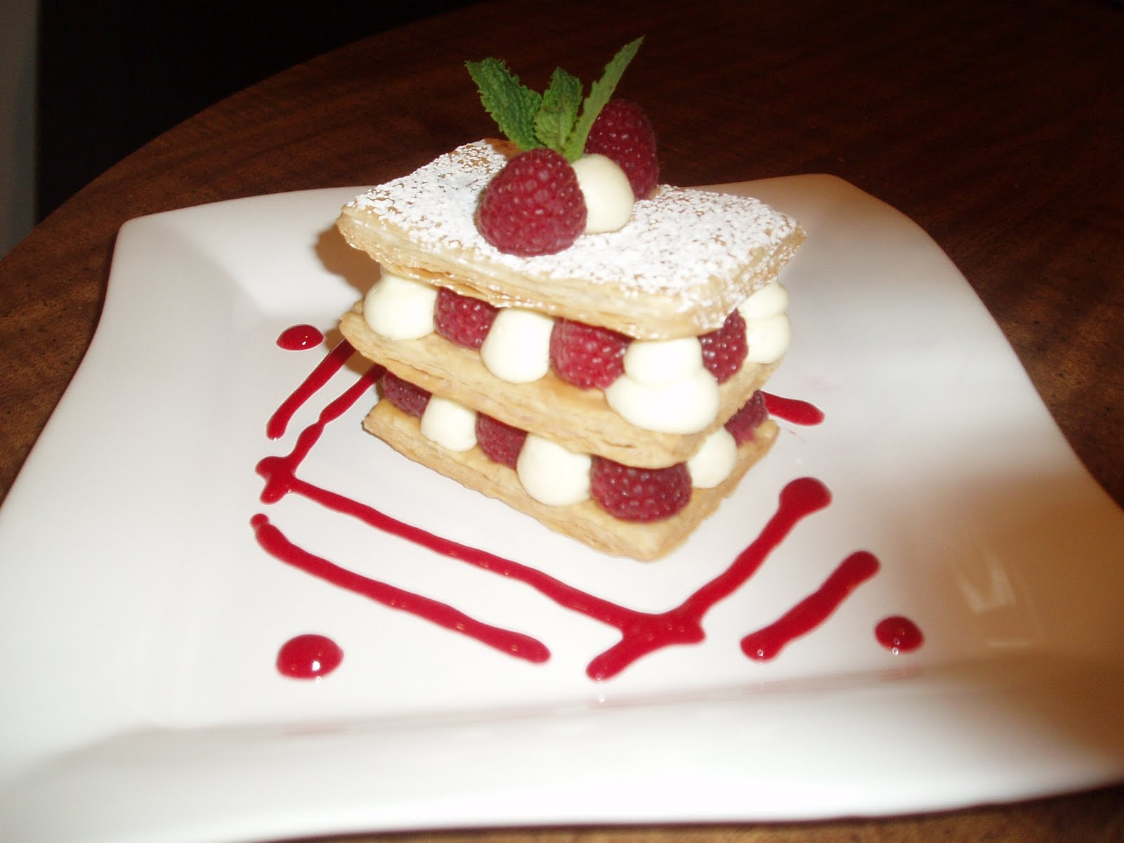 Raspberry Chocolate Napoleons Recipe — Dishmaps