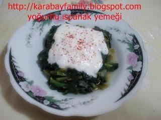 Yoğurtlu ıspanak yemeği
