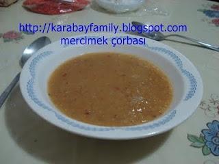 mercimek çorbası :ซุปถั่ว