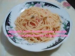 spagetti with fresh tomato sauces สปาเก็ตตี้ ซอสมะเขือเทศสด