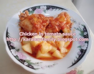 Chicken in Tomato Sauce ไก่อบซอสมะเขือเทศสด