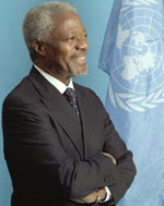 Kofi Annan photo from email scam fraud message