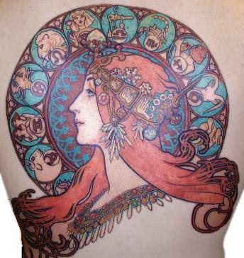 Astronomy Cool Angel Tattoo