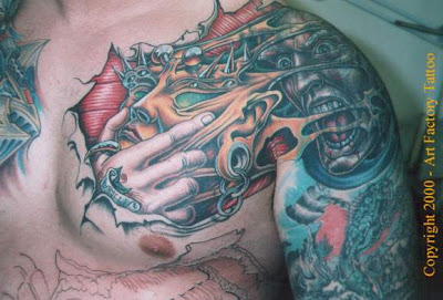 Abstract Crazy Tattoo