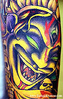 Demon Crazy Body Tattoo
