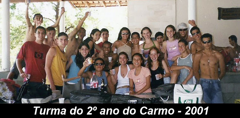 Turma do 2º ano do Carmo - 2001