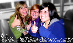 A brunet a blond and a red head