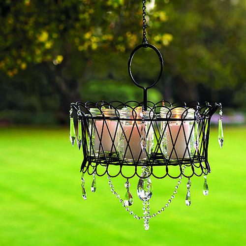 Monica Wants It: A Lifestyle Blog: An Outdoor Chandelier {DIY
