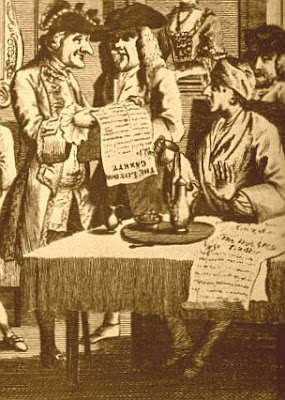 The London Coffee-house was where 18th-C. gentlemen went to read and discuss newspapers