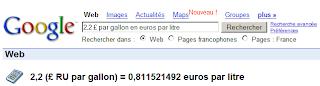 Gallons - litres - euros