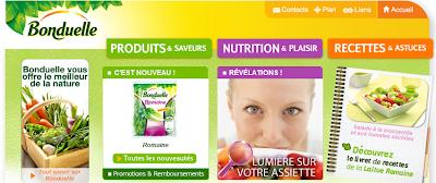 site Internet Bonduelle - Img01