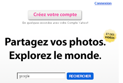 Flickr recherche page d'accueil