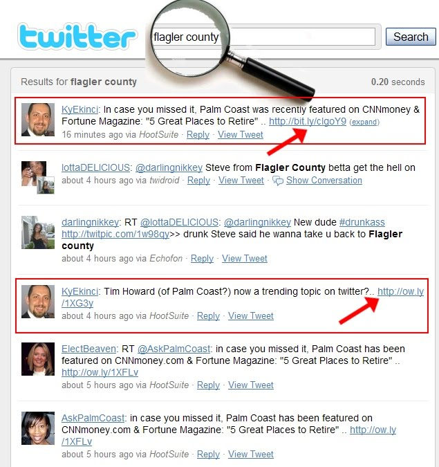 "search image by url.  twitter search is able to pickup the ""Flagler-County"" portion of the URL"