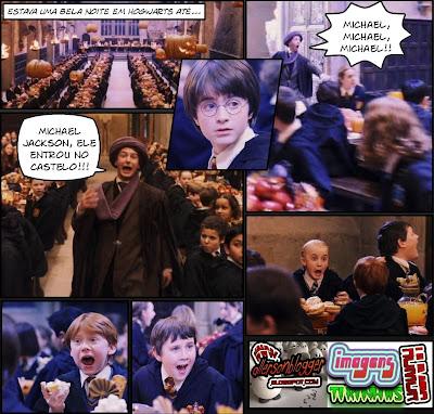 Fotos do Colin #2: Hogwarts também gosta de Michael Jackson